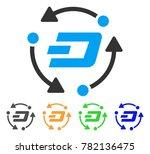 dash turnover icon. vector... | Shutterstock .eps vector #782136475