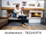 couple enjoiying a weekend... | Shutterstock . vector #782141974