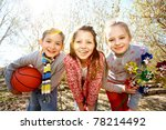 image of happy friends with... | Shutterstock . vector #78214492