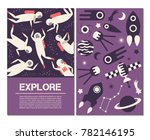 space banners. objects  symbols ... | Shutterstock .eps vector #782146195