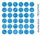 blue most used webdesign round... | Shutterstock .eps vector #782147041