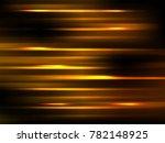 golden blured motion effect ... | Shutterstock .eps vector #782148925