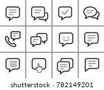 message vector icons set. black ... | Shutterstock .eps vector #782149201