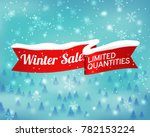 winter sale background with red ... | Shutterstock .eps vector #782153224