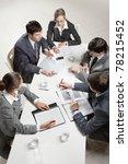 team of five business people... | Shutterstock . vector #78215452