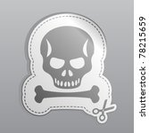 illustration of white sticker...