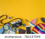 top view travel concept with... | Shutterstock . vector #782157595
