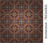 vector ornate floral seamless... | Shutterstock .eps vector #782162821