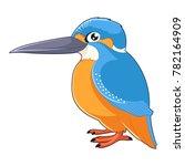 cartoon smiling kingfisher | Shutterstock . vector #782164909