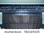 typewriting machine detail.... | Shutterstock . vector #782169235