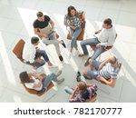 top view of business team... | Shutterstock . vector #782170777