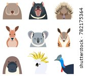 australian animals flat icons | Shutterstock . vector #782175364