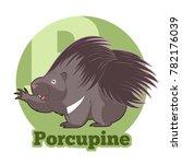 abc cartoon porcupine | Shutterstock . vector #782176039