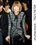 Small photo of Italy - Milan dicember 27,2017 - Anna Wintour posed durin the fashion week