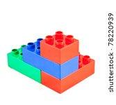plastic building blocks on... | Shutterstock . vector #78220939