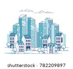 cityscape. city with... | Shutterstock .eps vector #782209897