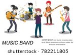 musicians and musical... | Shutterstock .eps vector #782211805