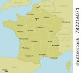 vector map of france with... | Shutterstock .eps vector #782216071