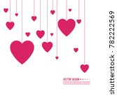 pink and red hearts on a white... | Shutterstock .eps vector #782222569