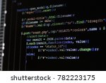 Stock photo computer source code programmer script developer programming monitor i am programmer this is my 782223175
