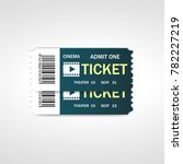 two cinema vector tickets... | Shutterstock .eps vector #782227219