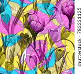 vector floral illustration ... | Shutterstock .eps vector #782231125