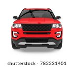 red suv car isolated  front... | Shutterstock . vector #782231401