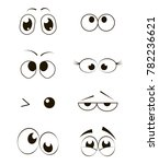 cartoon funny eyes collection.... | Shutterstock .eps vector #782236621