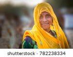 unidentified indian lady in... | Shutterstock . vector #782238334