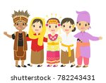 indonesian children  boys and... | Shutterstock .eps vector #782243431