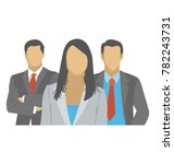 flat icon of a group of people... | Shutterstock .eps vector #782243731