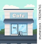 cafe in the background of the... | Shutterstock .eps vector #782246761