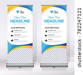 roll up banner design template  ... | Shutterstock .eps vector #782247121
