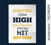 success formula poster design.... | Shutterstock .eps vector #782248399
