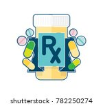 prescription pharmaceutical... | Shutterstock .eps vector #782250274