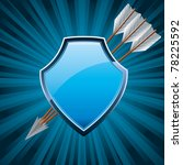 security shield  coat of arms... | Shutterstock .eps vector #78225592