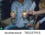 group of friends to enjoy new... | Shutterstock . vector #782257915