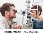surgery of an ophthalmologist...   Shutterstock . vector #782259901