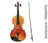 violin isolated on white... | Shutterstock . vector #782260741