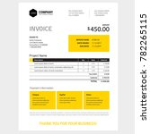 invoice form design template  ... | Shutterstock .eps vector #782265115