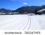 ski  track in landscape for... | Shutterstock . vector #782267455