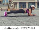 brunette slim adult sexy fit...   Shutterstock . vector #782278141