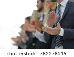 blurred image of business team... | Shutterstock . vector #782278519