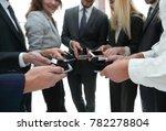 close up of smartphones in the... | Shutterstock . vector #782278804