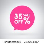 35  offer label sticker  sale... | Shutterstock .eps vector #782281564