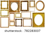 set of isolated art empty... | Shutterstock . vector #782283037