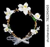 white flower diadem isolated on ... | Shutterstock . vector #782290405