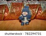 ceramic snowman on a christmas...   Shutterstock . vector #782294731