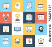 web and seo flat vector icons | Shutterstock .eps vector #782299939