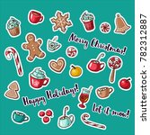 vector collection of christmas... | Shutterstock .eps vector #782312887